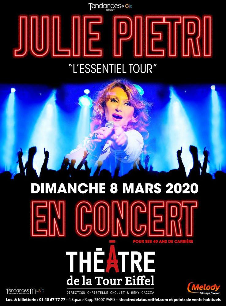 Julie PIETRI en CONCERT à Paris 33 Paris 7 (75)
