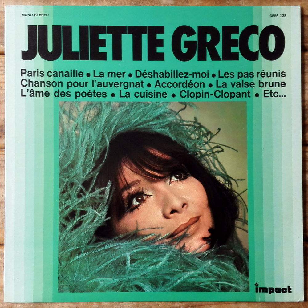 JULIETTE GRECO - LP - Série IMPACT - ACCORDÉON (GAINSBOURG)  6 Tourcoing (59)