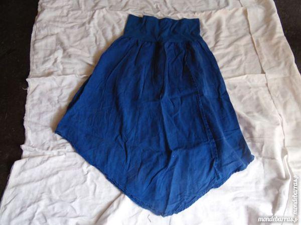 jupe asymétrique bleu t36 4 La Grand-Combe (30)