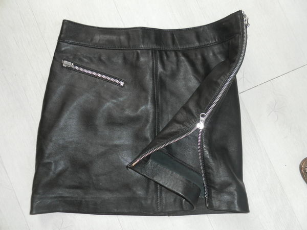 3c01d723327cb6 Jupe en cuir véritable