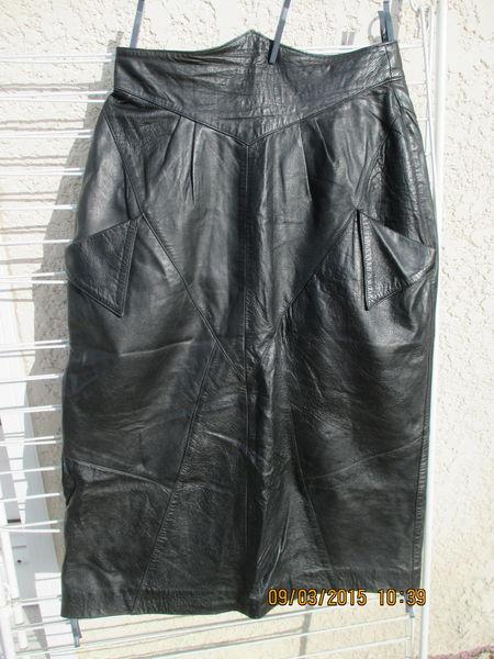 jupe cuir 42 Maroquinerie