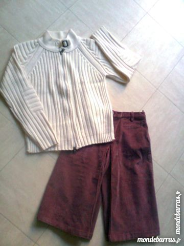 jupe culotte - gilet/cardigan - 10 ans - zoe 4 Martigues (13)