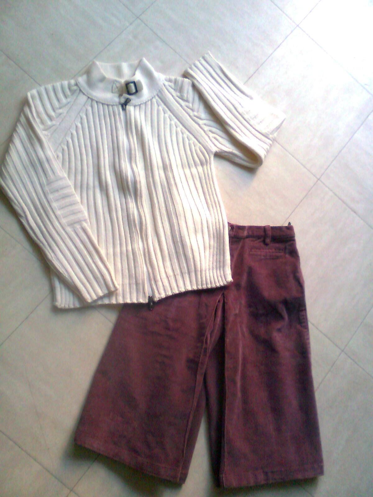 jupe culotte, gilet/cardigan - 10 ans - zoe 3 Martigues (13)