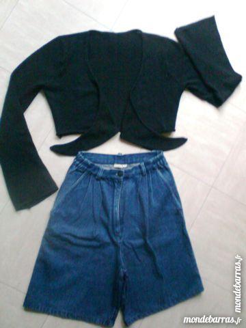 JUPE culotte jean - gilet coeur croisé - 38 - zoe 2 Martigues (13)