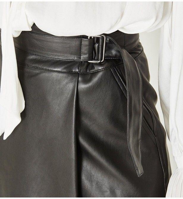 Jupe effet cuir noir Droite Mi-longue, T36,  Promod, NEUVE 25 Voisins-le-Bretonneux (78)