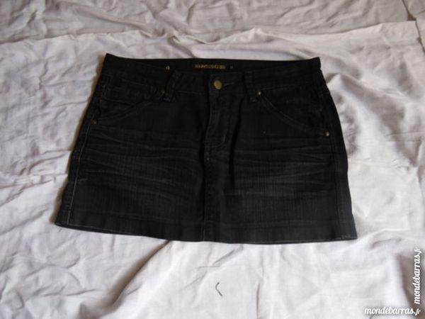 jupe en jeans noir t38 5 La Grand-Combe (30)
