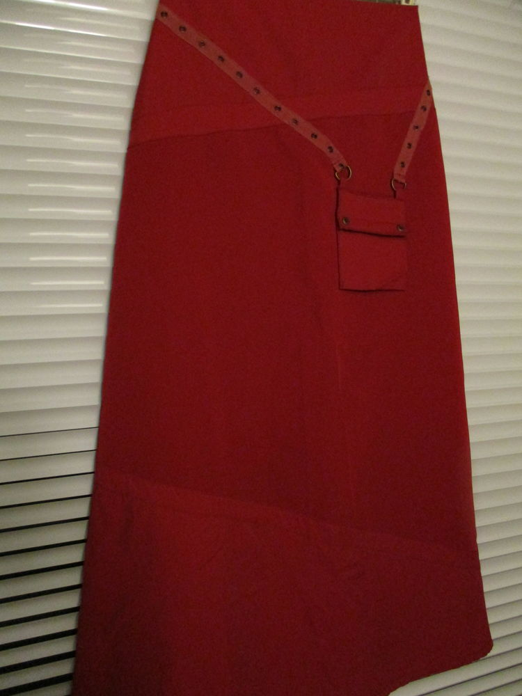 Jupe longue rouge T38-40 8 Sathonay-Village (69)