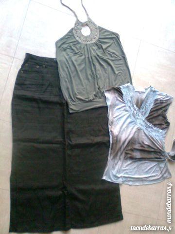 JUPE mi-longue, dos nu, t shirt - 34/36 - zoe Vêtements