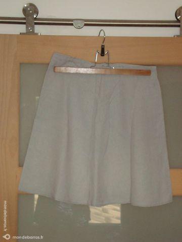 Jupe trapèze en lin faite par une couturière 5 La Verdière (83)