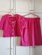 Jupe et veste courte assortie fuschia - 42 - TBE Vêtements