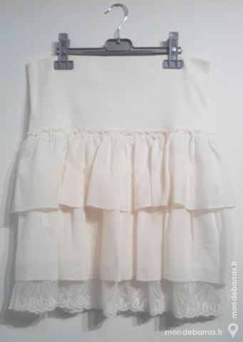 Jupe à volants - blanc cassé - femme 10 Pont-Péan (35)