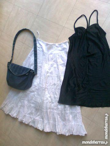 jupe à vollants, robe, sac en jean - 36 - zoe Vêtements