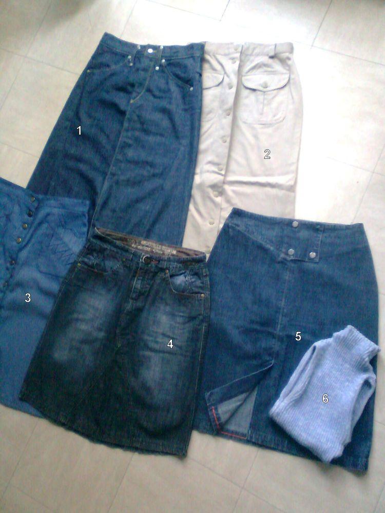 JUPES jean ,longues et courtes - 38 - zoe 6 Martigues (13)