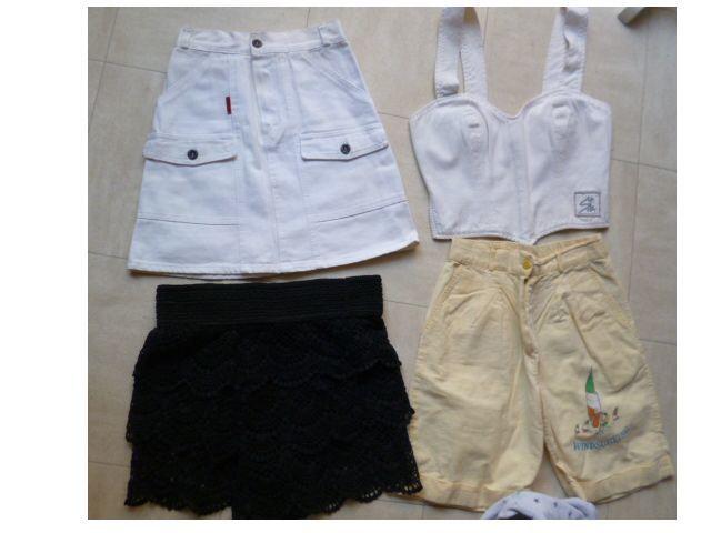10 ans -  2 jupes, 1 short, 1 bustier, 1 sweat - zoe 2 Martigues (13)