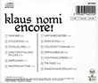 CD Klaus Nomi - Encore (Nomi's Best) CD et vinyles