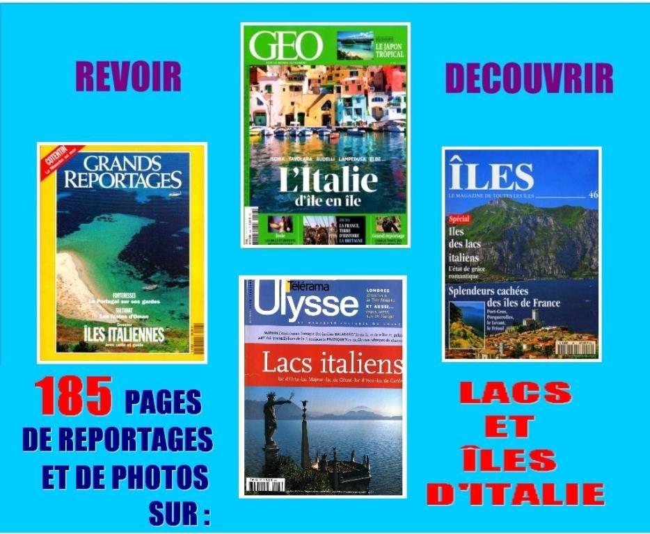 LACS et ÎLES D'ITALIE / prixportcompris Livres et BD