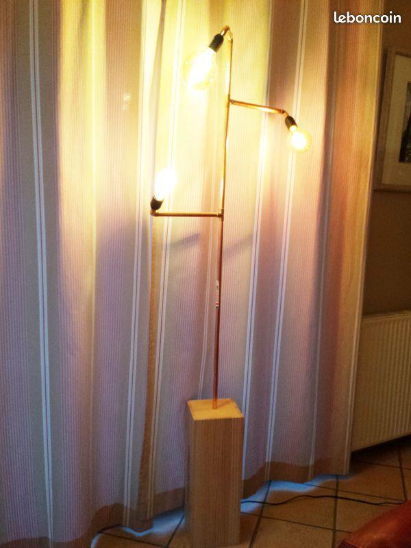 Lampadaire design cuivre multi lampes 140 euros 140 Jouy-en-Josas (78)