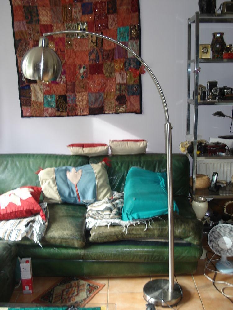Lampadaire Lounge 175 cm gris métallique Décoration