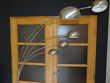 Lampadaire 5 lumières - H. 210 cm - Chrome - Socle en marbre Décoration