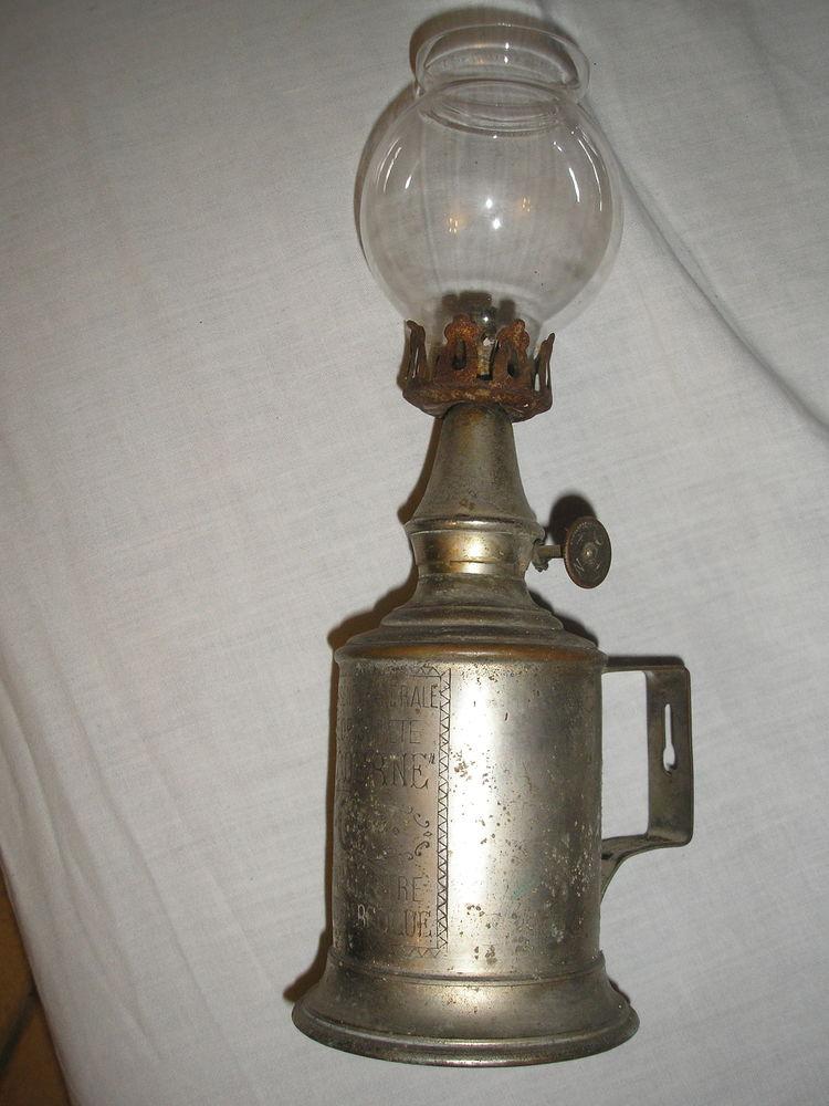 Lampe ancienne NGR métal blanc 25 Laize-la-Ville (14)