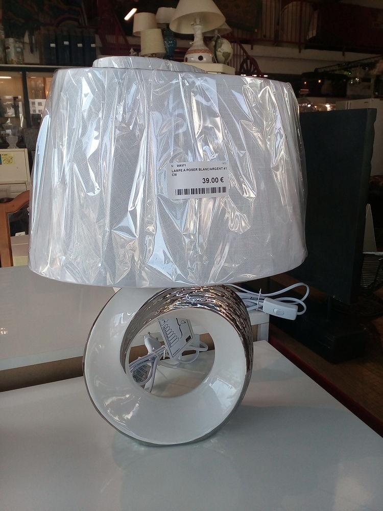 Lampe blanche et argent 39 Toulouse (31)
