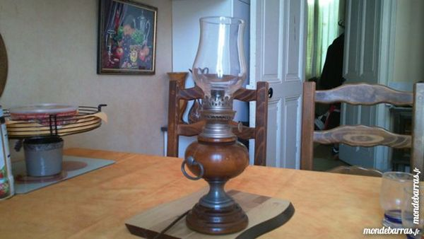 lampe bois et étain 1 Sainte-Colombe (69)