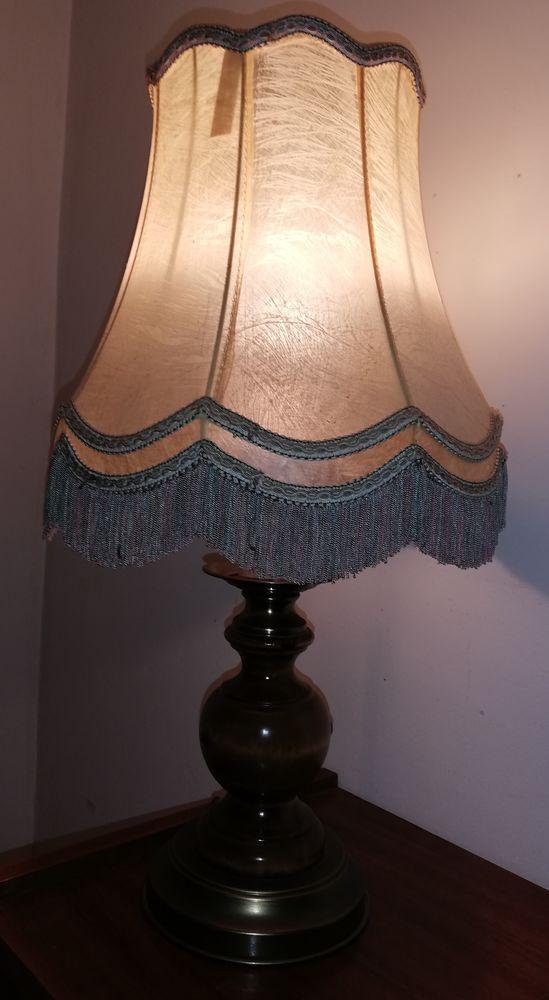 Lampe bois et laiton Décoration