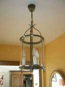 lampe 3 bougies plafond en laiton 150 Annemasse (74)