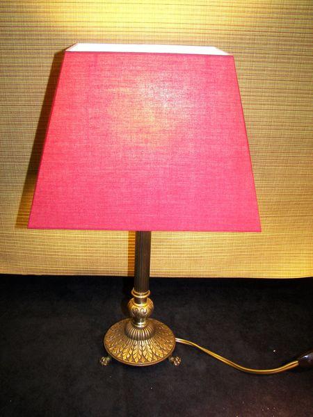 Lampe bronze fin 19 ème 60 Cagnes-sur-Mer (06)