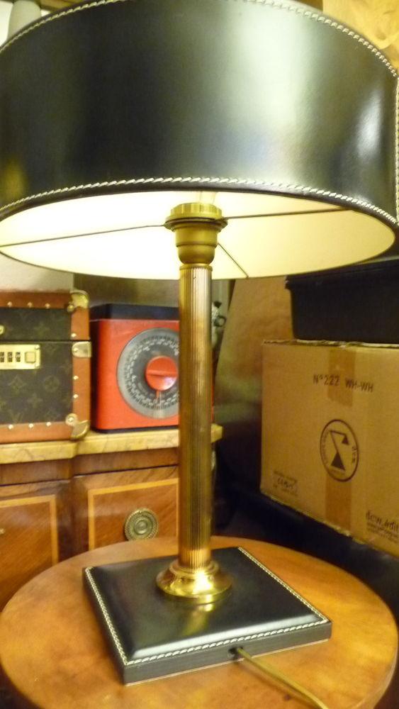 Lampe de bureau cuir et laiton 280 Trappes (78)