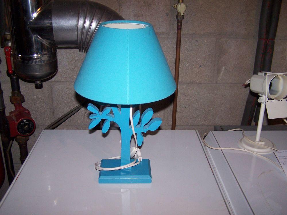 Bois Couleur Lampe Chevet Bleue En De bvf6Yy7g