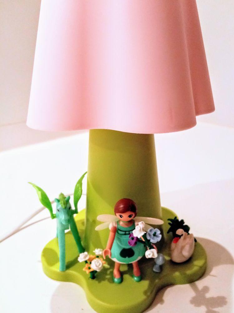 Lampe de chevet fleur, lampe Playmobil, jardin de fée 0 Belgique