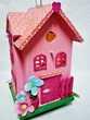 Lampe de chevet nichoir en bois rose, chambre d'enfant Mobilier enfants