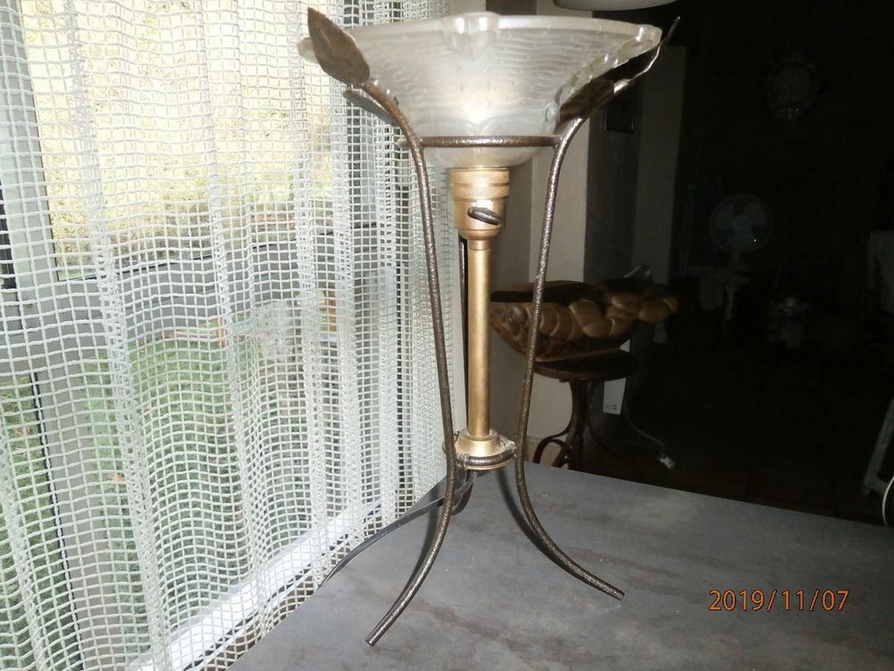 LAMPE ART DÉCO fer forgé, laiton. 70 Plufur (22)