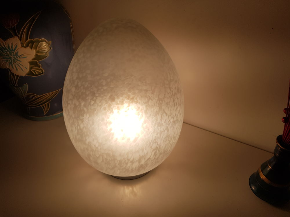 Lampe forme oeuf vintage 60 Le Pin (77)