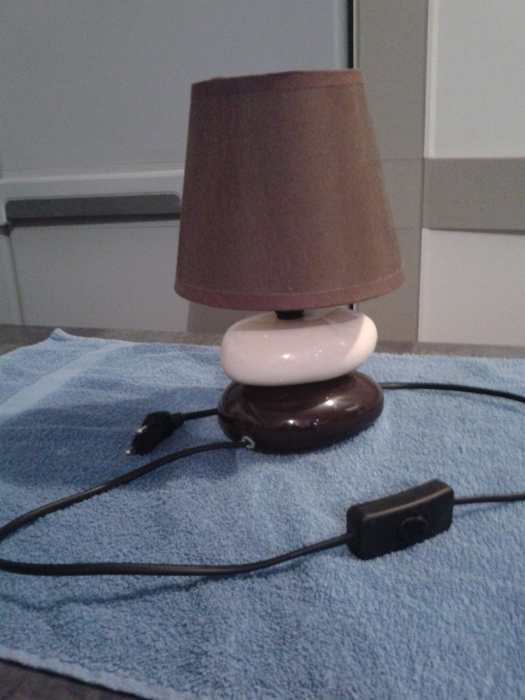 Lampe 2 Galets Faïence 10 Arques (62)