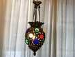 Lampe Indienne multicolor ancienne. Décoration