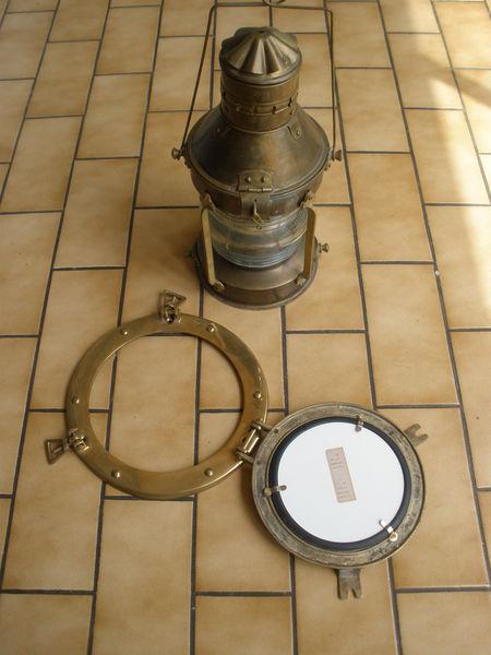 Lampe marine + hublot miroir 80 Bayonne (64)