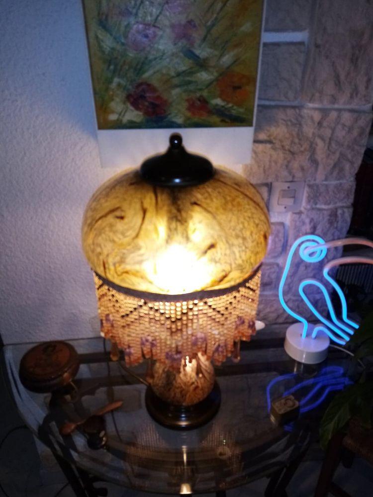 LAMPE en PÂTE DE VERRE,   Vianne pour Sobmerville 750 La Seyne-sur-Mer (83)