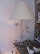 Lampe pied métal avec abat jour écru Décoration