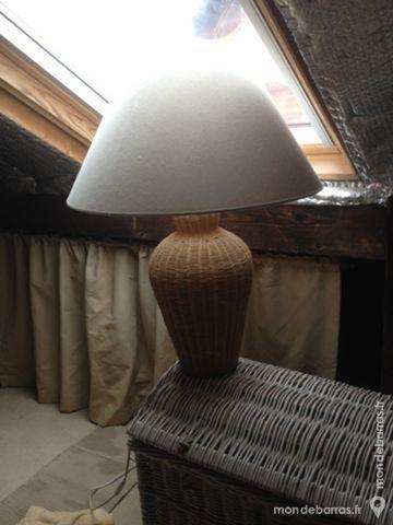 LAMPE pied en osier 12 Eaubonne (95)