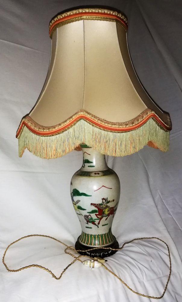 Lampe pied porcelaine 80 Chaville (92)