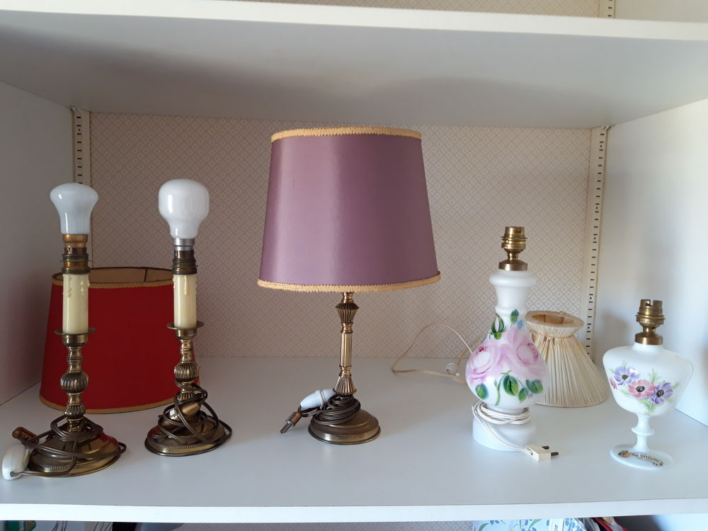 Lampe et pieds de lampes des Années 1960 1970 15 Caen (14)