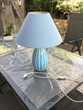 Lampe à poser céramique bleue