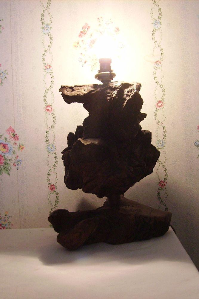 lampe /racine de teck /Bali Indonésie Décoration