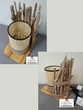 Lampe ronde à poser avec abat jour cannage et bois flottés Décoration