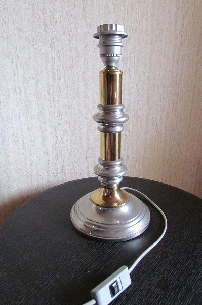 Lampe de salon, en étain et métal doré, 1970s 120 Paris 10 (75)