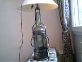 Lampe verre et fer forgé  50 Douy-la-Ramée (77)
