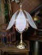 Lampe verre et laiton massif très lourde 58cm 45 Pringy (77)