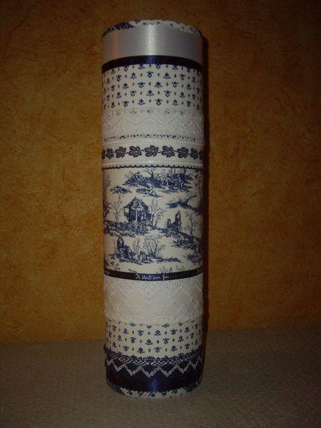Lampe verticale cylindrique Provence bleu marine 39 Trans-en-Provence (83)